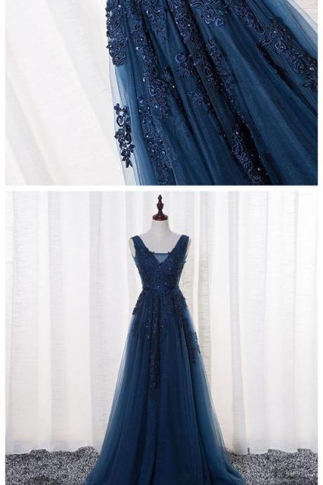 Long Evening Dress , Beaded Prom Dresses,Graduation Party Dresses, Prom Dresses For Teens