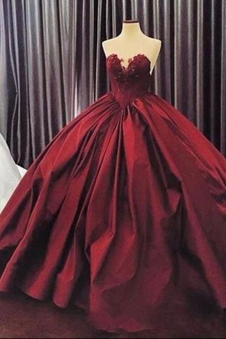 quinceanera dresses,burgundy wedding dress,maroon ball gowns wedding gowns
