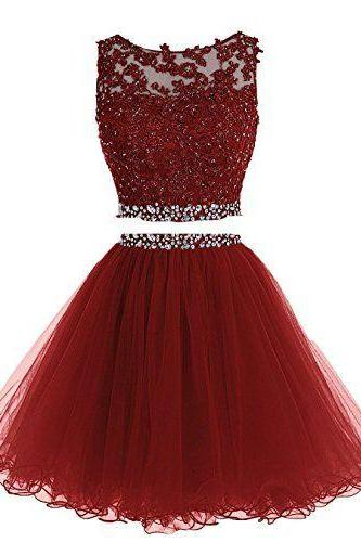 Homecoming Dress,2 Piece Homecoming Dresses,Sparkle Sweet 16 Dress,Homecoming Dress,2 pieces Cocktail Dress,Two Pieces Evening Gowns
