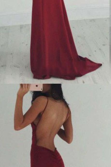 Gorgeous Wine Red Prom Dress Burgundy Mermaid Prom Dresses,Prom Dresses,Evening Gowns,Formal Gown For Teens
