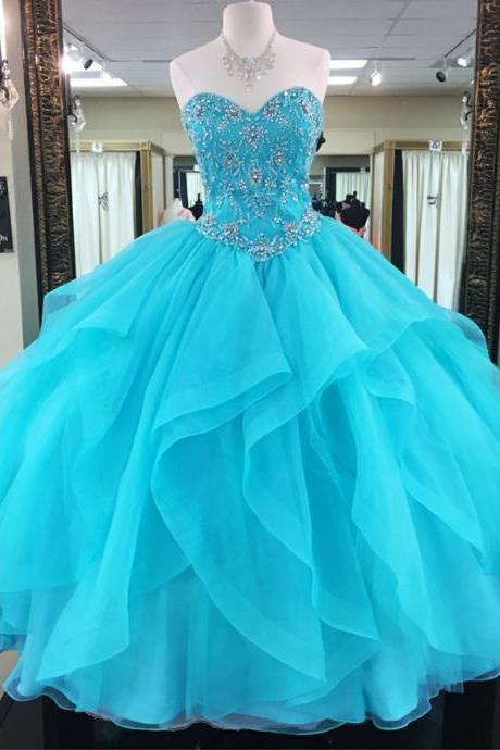 Turquoise Bule Quinceanera Dresses,Ball Gowns Prom Dresses,Sweet 16 Dresses,Elegant Quinceanera Dresses,Formal Gown,Prom Dresses,Evening Gowns,Formal Gown For Teens