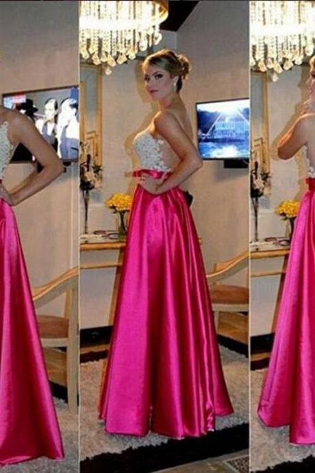 New Design Backless Evening Gown,See Though Women Formal Dress,A Line Prom Dress,Prom Gown,Lace Prom Dresses