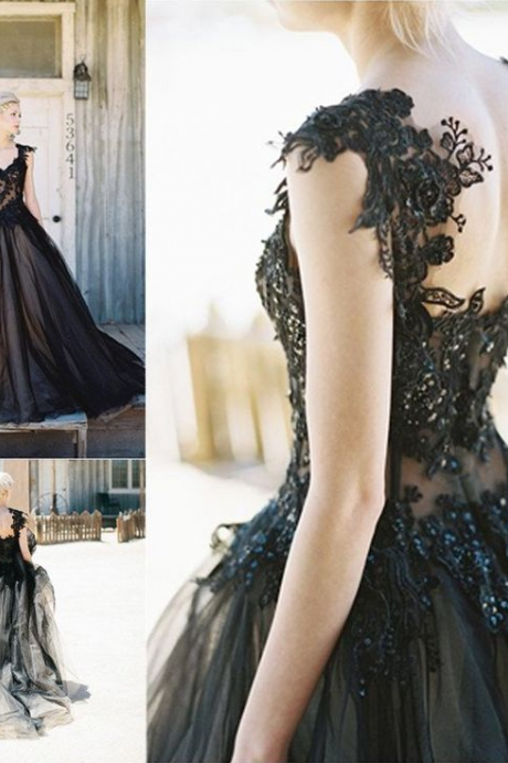Black Lace Prom Dresses, Evening Dresses, Formal Dresses, Graduation Party Dresses, Banquet Gown ,Sleeveless Formal Dresses, Formal Women Dress,prom dress, Evening Dresses, Prom Dress,Wedding Formal Dress