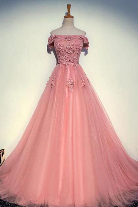 Long Prom Dress,Evening Dress,Charming Prom Dresses,Prom Dress, Lace Appliques Evening Dresses