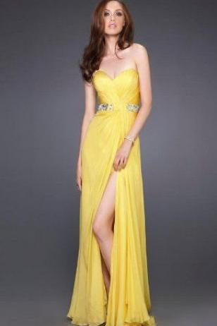 Unique strapless Prom Dress,Simple Prom Dress,Cheap Prom Dresses,Sexy beading Evening Dress Long