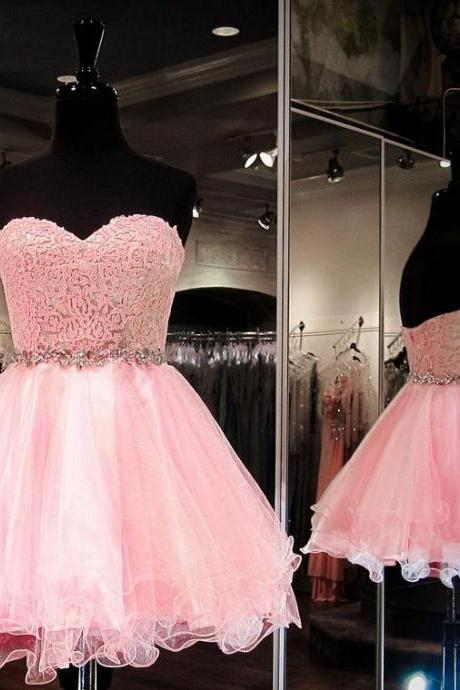 A Line Prom Dress, Pink Prom Dresses, Short Prom Dress, Homecoming Prom Dress, High Quality Prom Dress,Party Dress,Evening Dress ,Custom Made Size