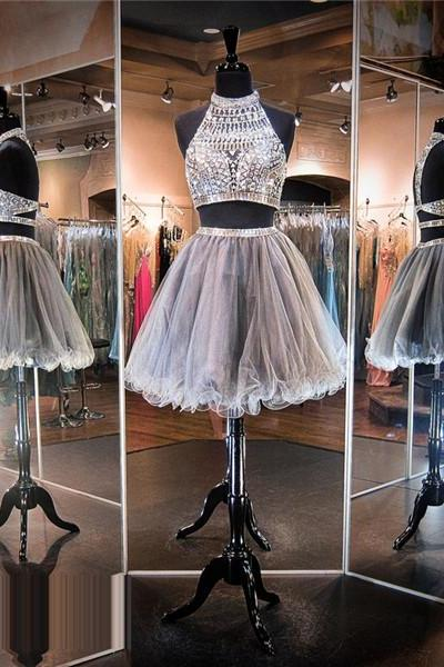 Silver Prom Dress,Short Prom Dress,Junior Prom Dress,Cheap Prom Dress,Prom DressesPiece Prom Dress, Sexy Prom Dress, Cheap Homecoming Dress, 8th Grade Prom Dress,Holiday Dress,Silver Evening Dress, Short Evening Dress,Formal Dress, 2 Piece Homecoming Dresses, Graduation Dress, Cocktail Dress, Party Dress