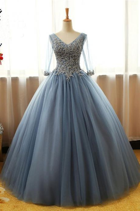 Elegant Prom Dress,Long Prom Dresses,Tulle Ball Gown Prom Cheap Formal Prom Dresses