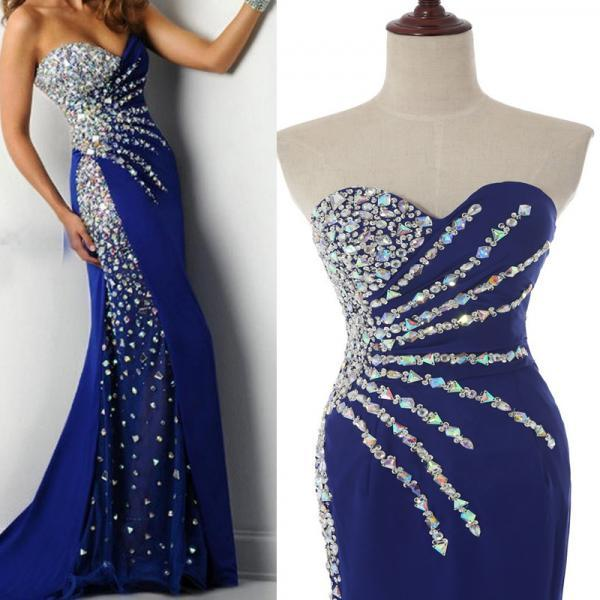 Prom Dress Luxury Prom Dresses Sexy Prom Dress Mermaid Prom Dress Beaded Prom Dress Long Prom Dress Royal Blue Prom Dresses Dress For Prom