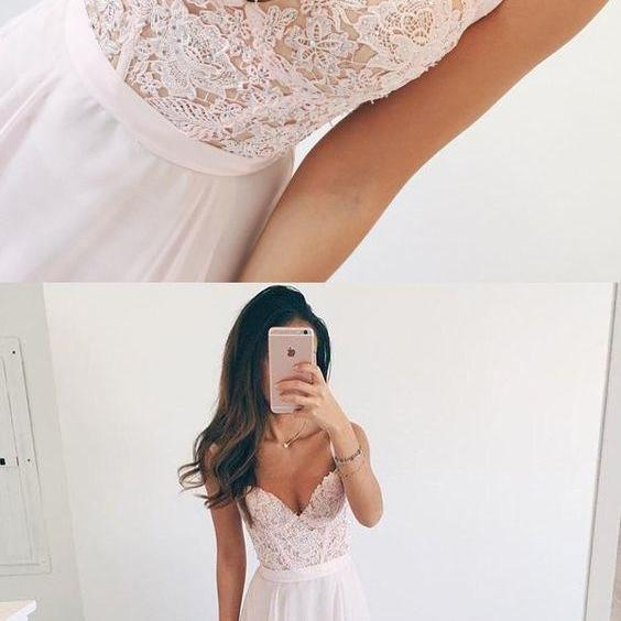Prom Dresses,Pink Evening Gowns,Lace Formal Dresses,Prom Dresses With Straps,evening Gown,Beautiful Evening Dress,Pink Formal Dress,Lace Prom Gowns
