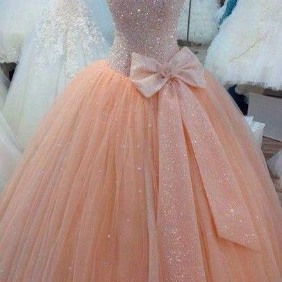 Custom Made A Line Weeding Dress,Pink Sweetheart Prom Dresses,Spaghetti Weeding Dresses,Ball Gown Evening Gowns