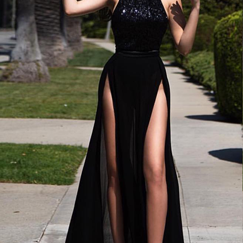 High Neck Prom Dress,Sexy Black Prom Dresses,High Quality Graduation Dresses,Wedding Guest Prom Gowns, Formal Occasion Dresses,Formal Dress