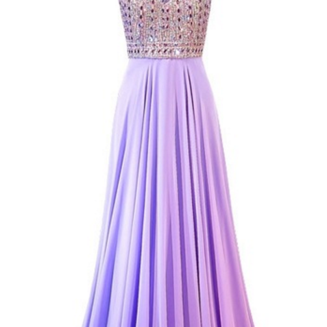 Long elegant evening gown, crystal floor-length Prom Dress,crystal floor-length pale purple Prom Dressews,snow spinning women's formal evening party,Sexy Prom Dresses,Evening Dress