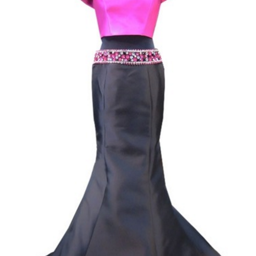 stunning sleeveless black mermaid Prom Dress,pearl decorated with two Prom Dresses,ball gowns in Africa,Sexy Prom Dresses,Evening Dress