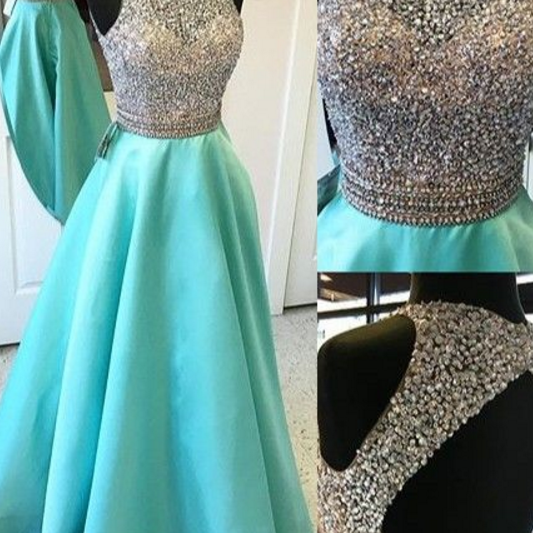 Bule Long prom dresses ,Charming Prom Dress, Sexy Prom Dresses,Evening Dress