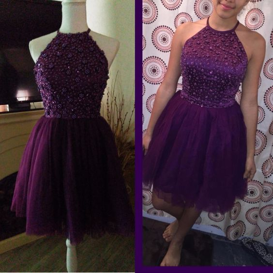 short purple homecoming dress,short homecoming dresses, dancing dress party dress