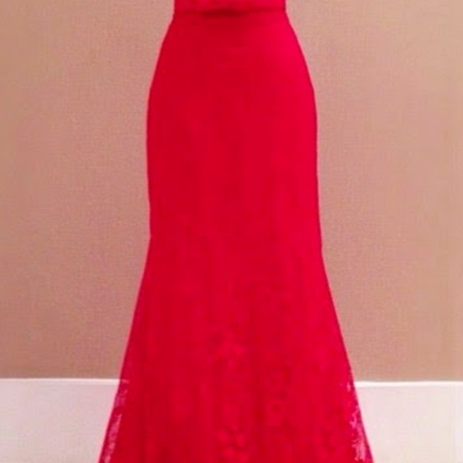 Red Prom Dresses,Charming Evening Dress,Prom Gowns,Lace Prom Dresses,New Prom Gowns,Red Evening Gown,Backless Party Dresses
