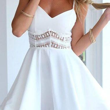Homecoming Dress,white prom dress,short prom dresses,homecoming dresses,modest homecoming dress,short prom gowns