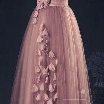 Tulle Evening Dress,Pink Evening Dresses,One Shoulder Prom Gown,A Line Flower Appliques Fitted Corset Elegant Prom Gowns