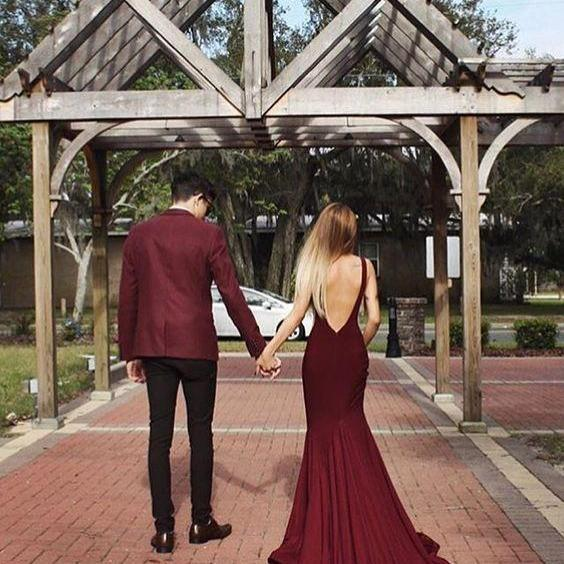 long prom dress,sexy mermaid prom gowns,burgundy evening dress
