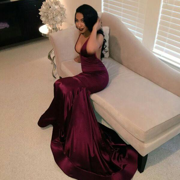 Burgundy Prom Dresses,Wine Red Evening Gowns,Modest Formal Dresses,Burgundy Prom Dresses,Evening Dress,Long Evening Gowns