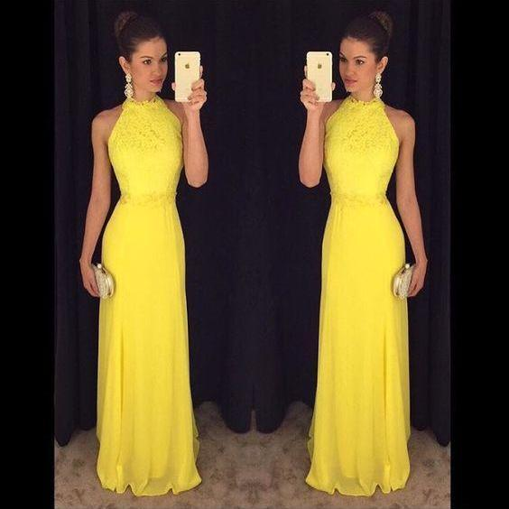 Yellow Prom Dress,Charming Evening Dress,Yellow Prom Gowns,Lace Prom Dresses,New Prom Gowns,Yellow Evening Gown,Fashions Party Dresses